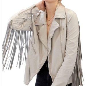 Blank NYC Fringe Leather Jacket